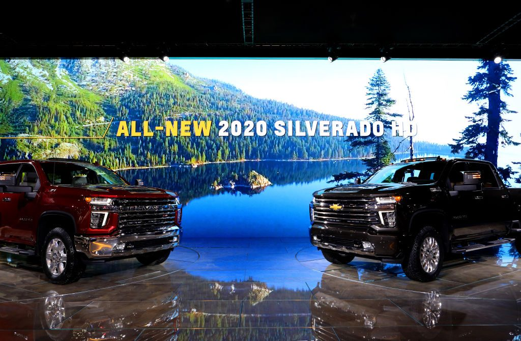 The 2020 Chevy Silverado HD on display at the Annual Chicago Auto Show
