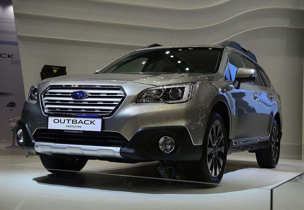 The Subaru Outback at the Moscow International Motor Show