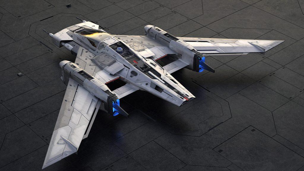 Tri-Wing S-91x Pegasus Starfighter overhead