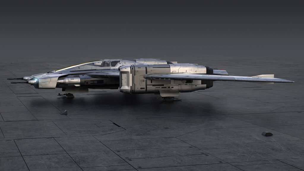Tri-Wing S-91x Pegasus Starfighter sideview
