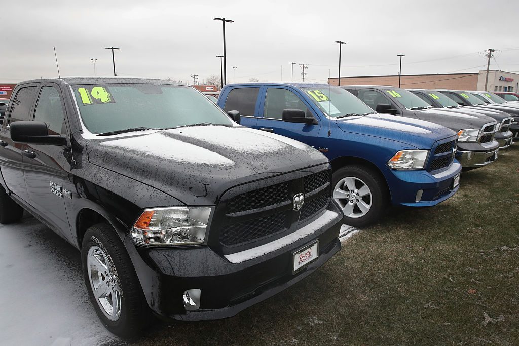 RAM 1500 trucks for sale at a dealership