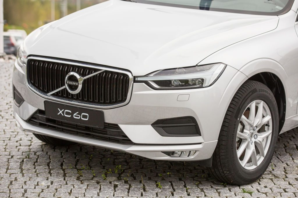 A Volvo XC60 on display