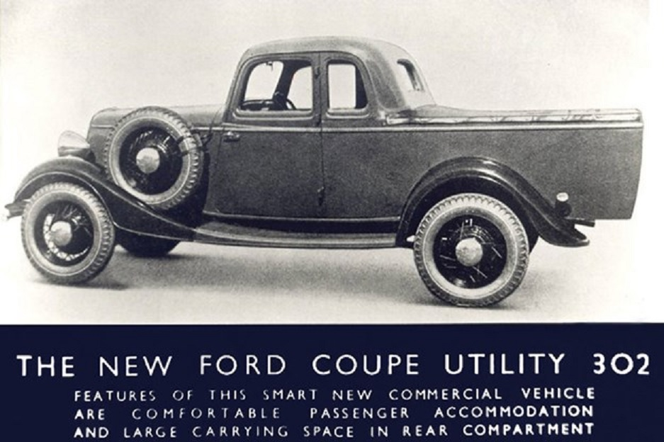 1934 Ford Coupe Utility 302 ad