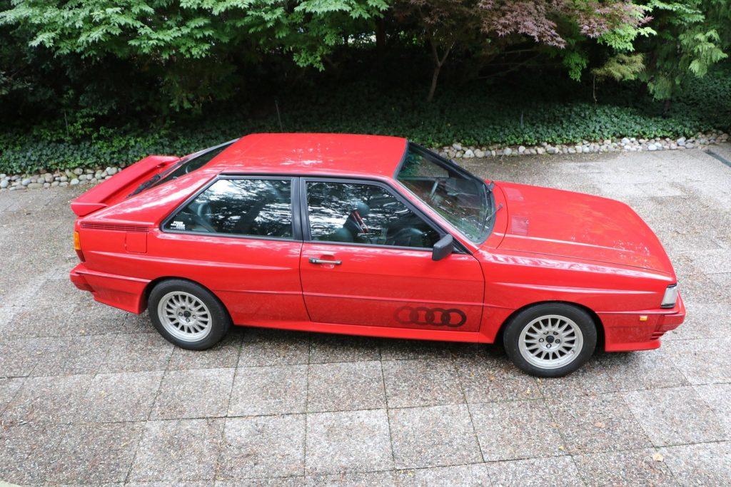 1985 Audi Ur-Quattro overhead
