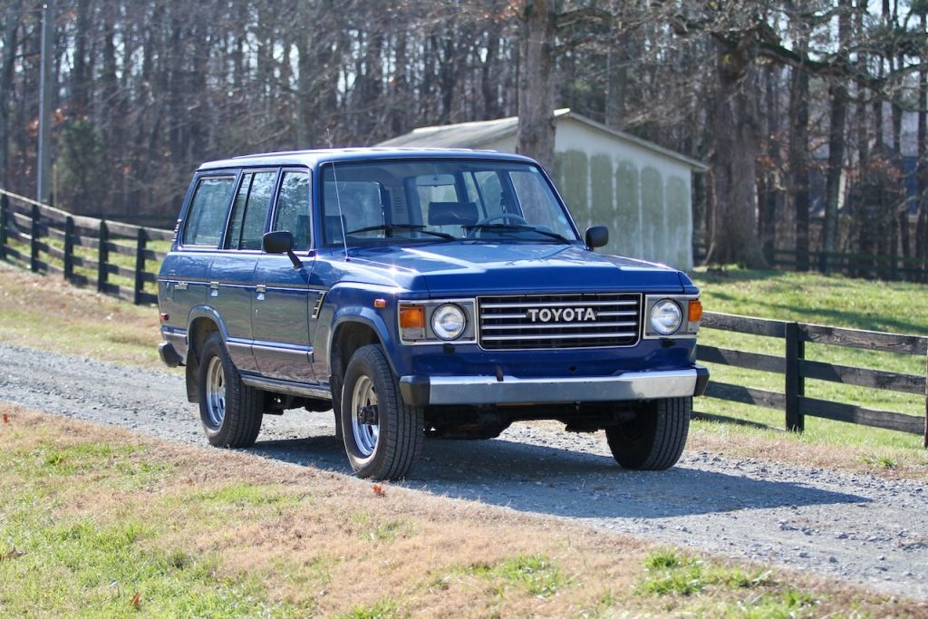 The rugged 1987 Land Cruiser FJ60
