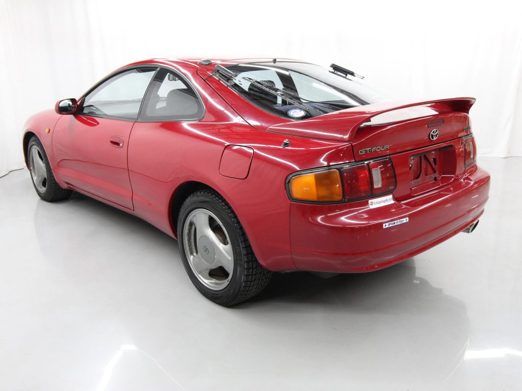 Red 1994 Toyota Celica GT4 rear