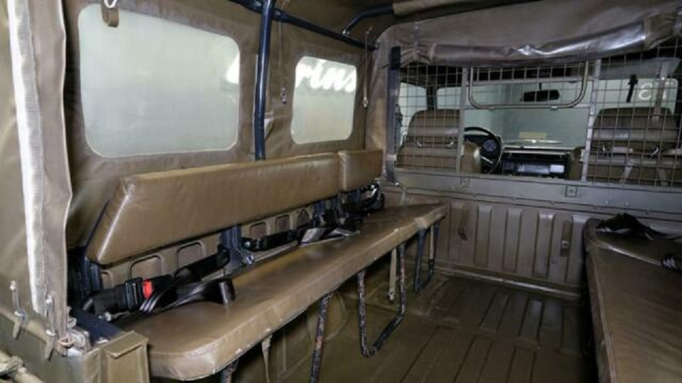 1995 Mercedes G 230 Swiss military G-Wagon rear seating area