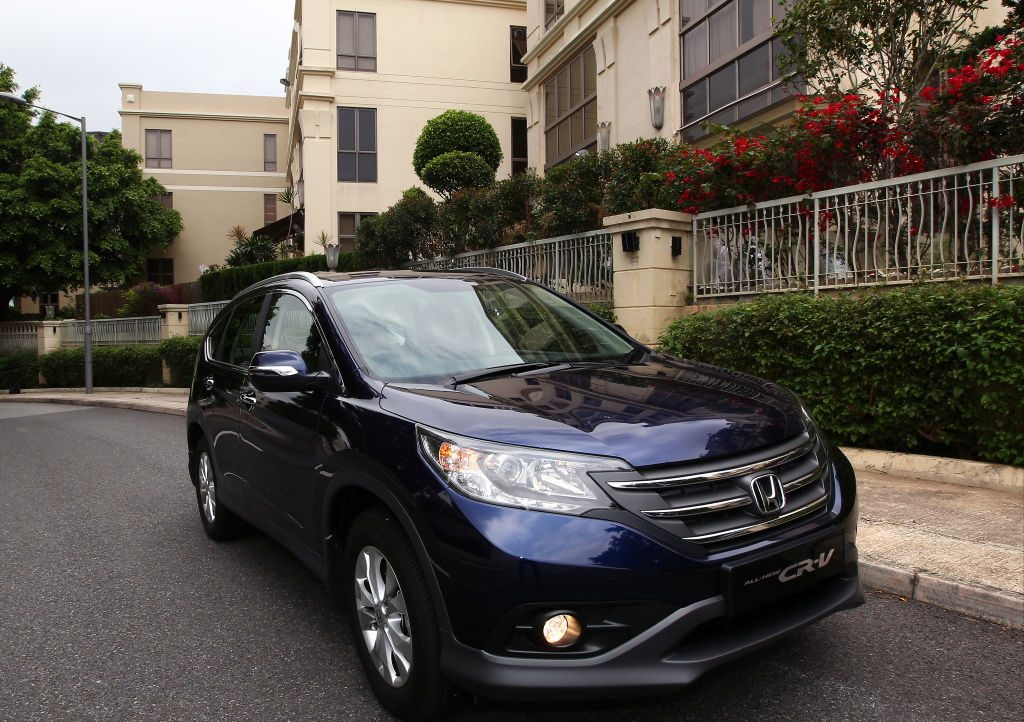 A 2015 Honda CR-V parked on the street