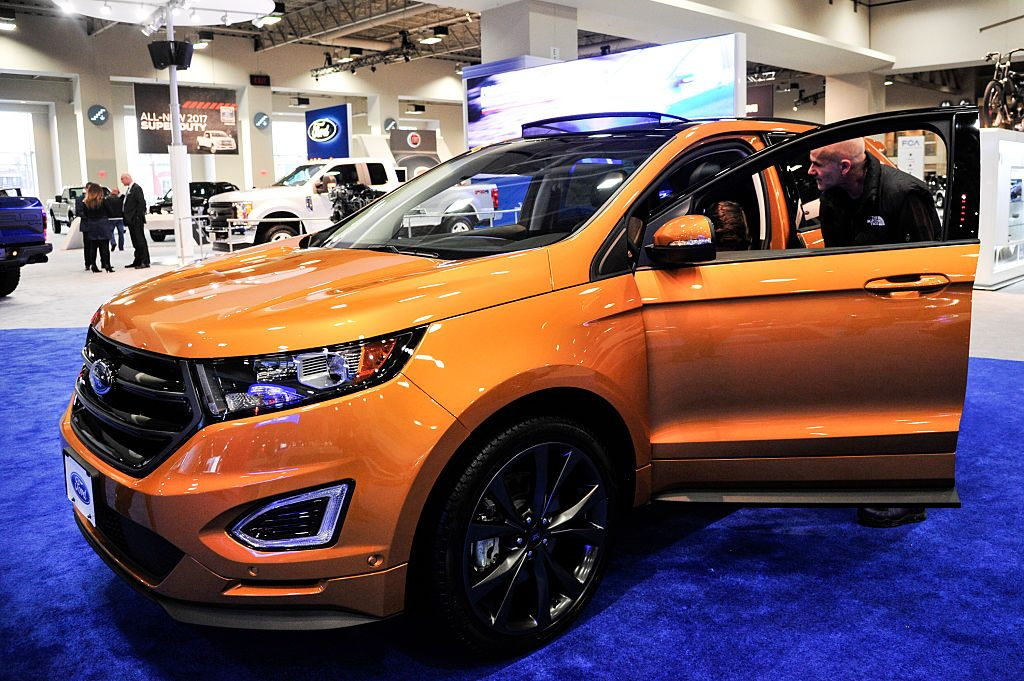 The 2016 Ford Escape at the Washington Auto Show