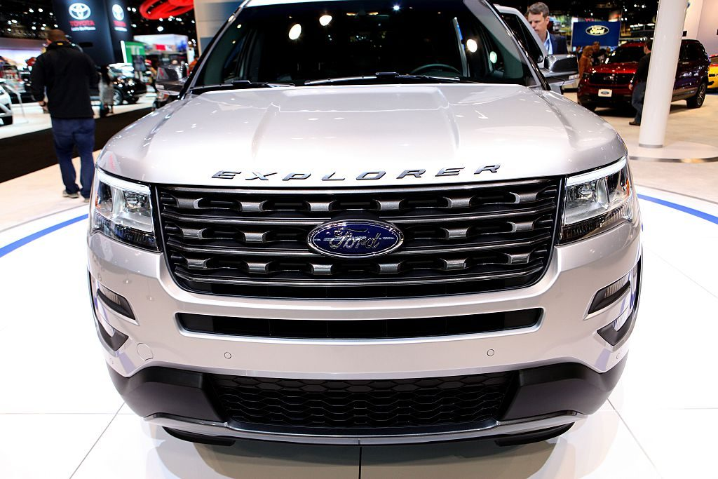 A Ford Explorer on display at a 2016 auto show is now giving owners problems