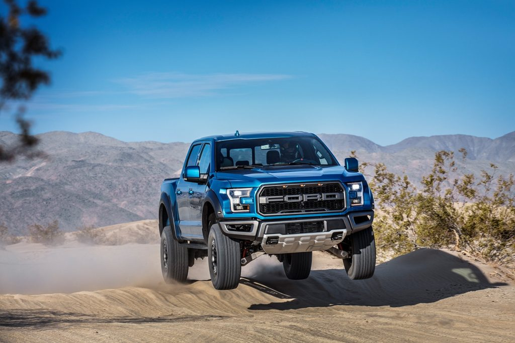 2019 Ford F-150 Raptor with Fox Live Valve electronic shocks