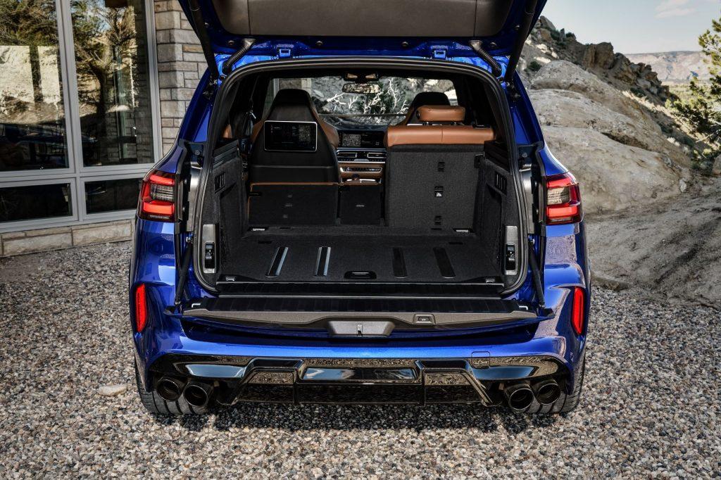 2020 BMW X5 M with seats folded