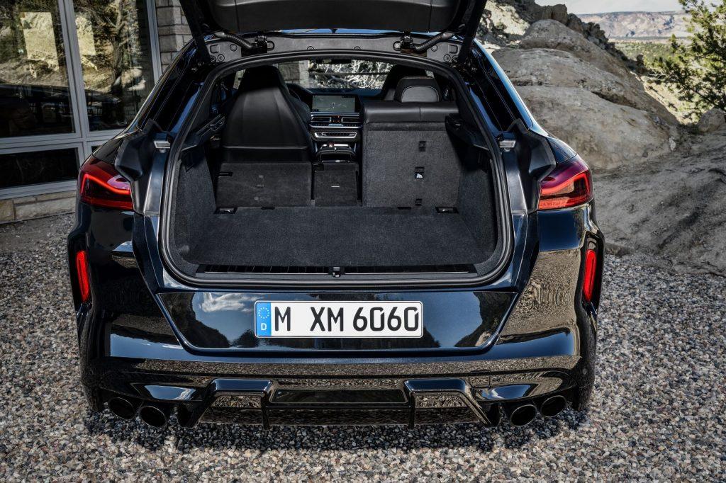 2020 BMW X6 M with seats folded