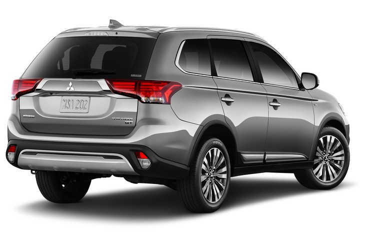 2020 Mitsubishi Outlander PHEV from the rear