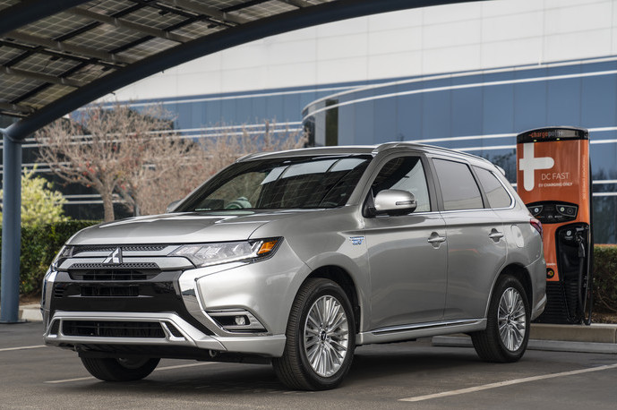 2020 Mitsubishi Outlander PHEV | driving down highway