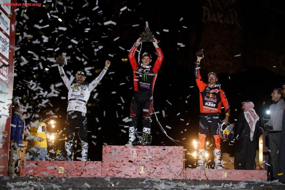 2020 Paris-Dakar Rally podium