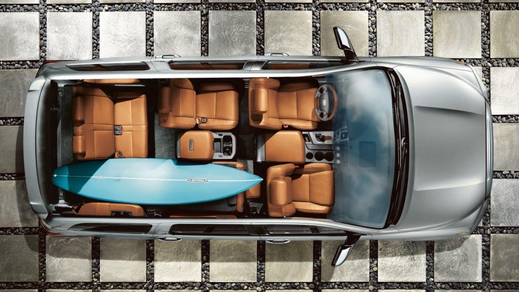 2020 Toyota Sequoia interior overhead cutaway