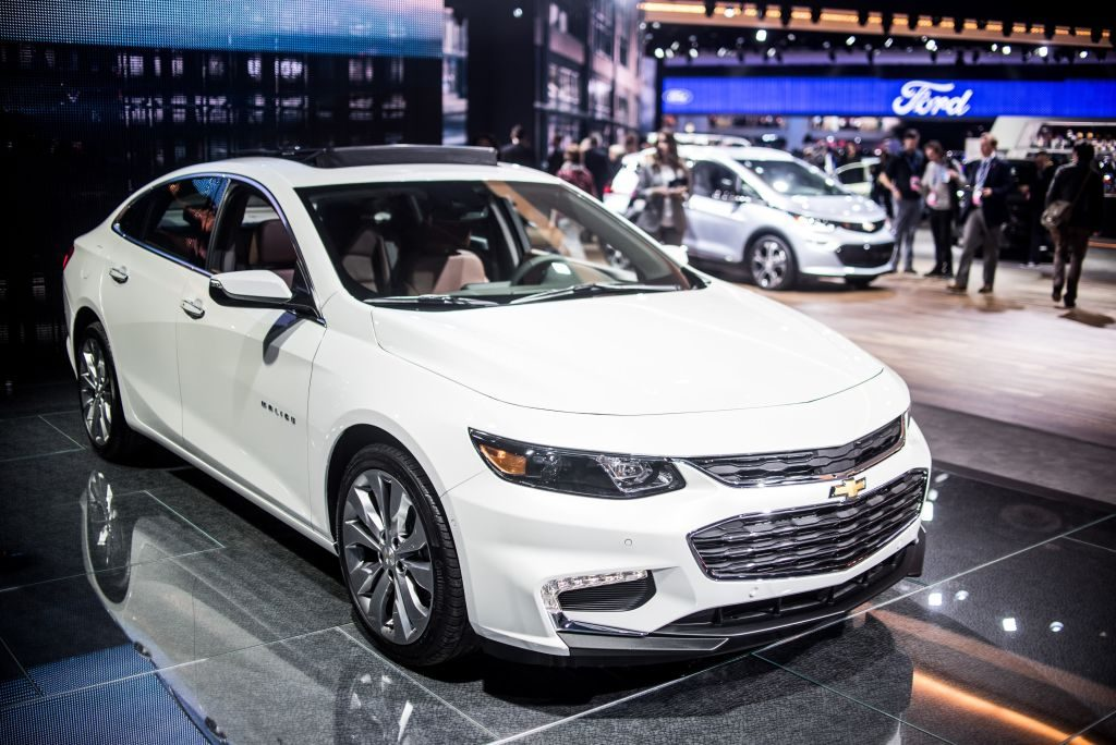 The Chevy Malibu at the North American International Auto Show