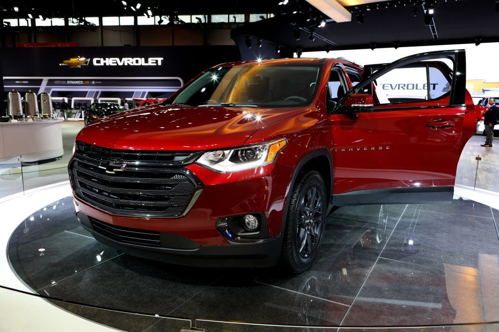 2018 Chevrolet Traverse is on display at the 110th Annual Chicago Auto Show