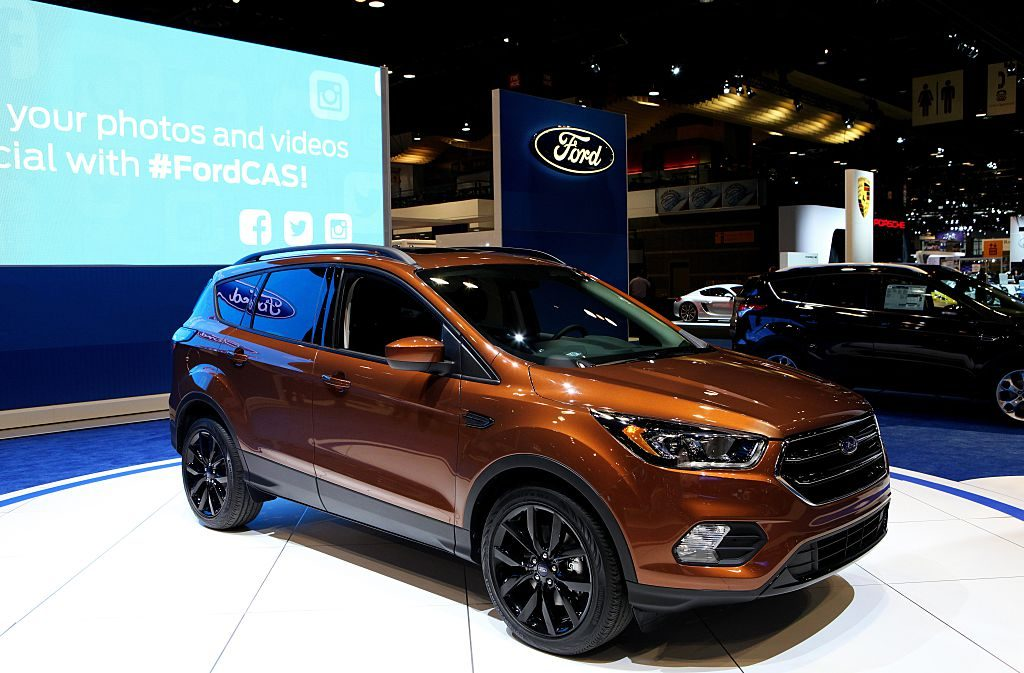 The Ford Escape on display at the Chicago Auto Show