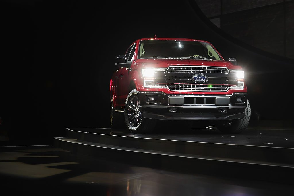The Ford F-150 on display at the North American International Auto Show