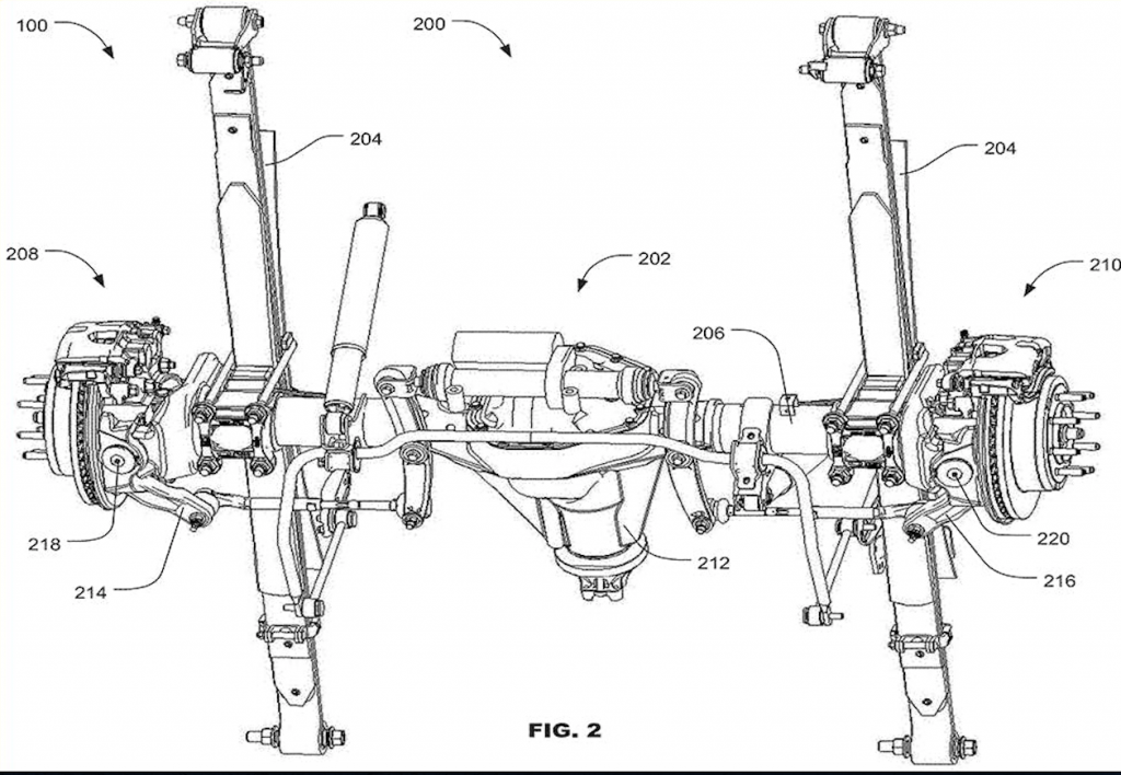 Ford four-wheel steering patent | Ford-0