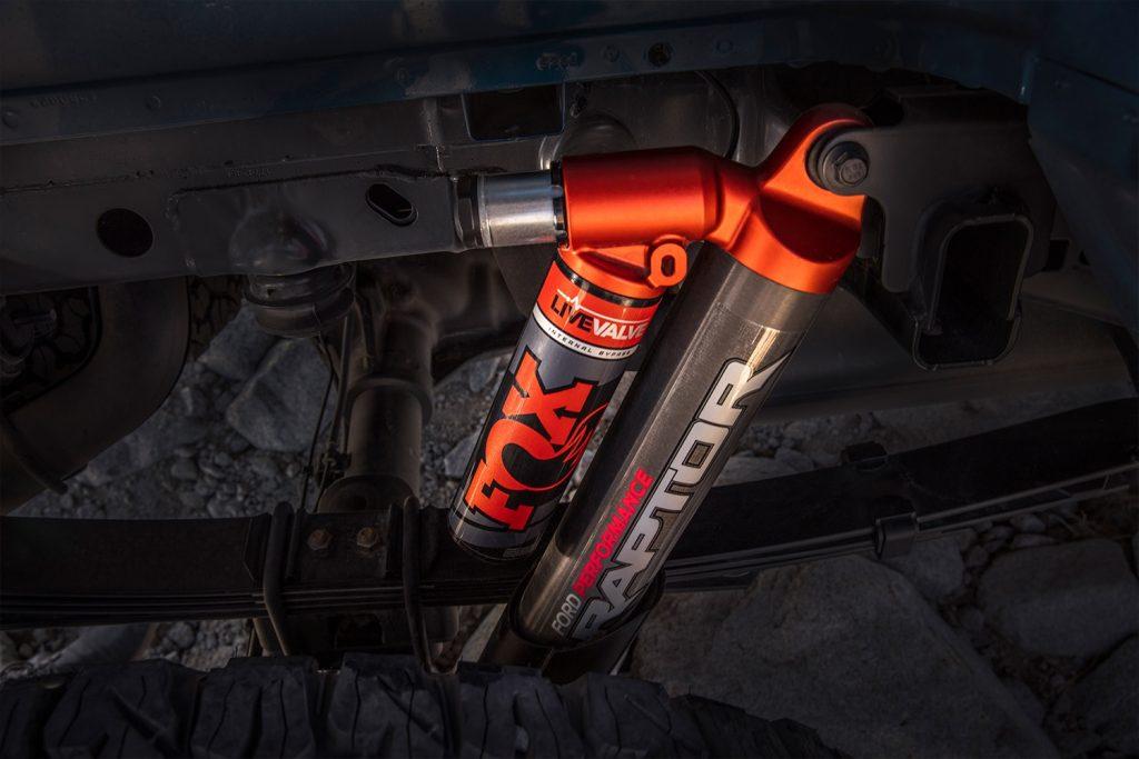 Fox Live Valve electronic shocks prototype on 2019 Ford F-150 Raptor