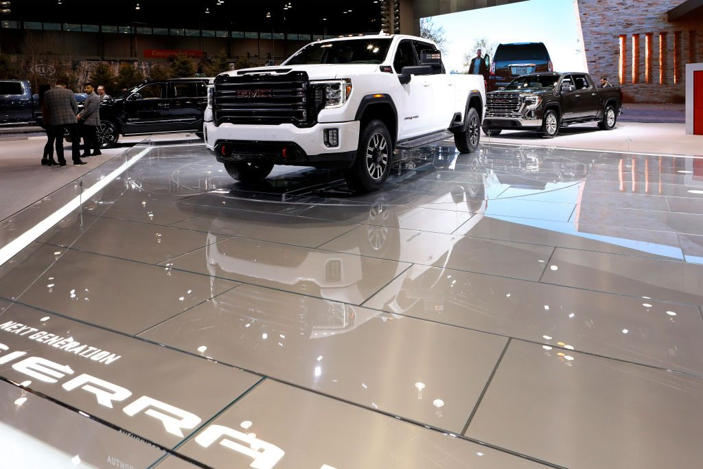 The 2019 GMCC Sierra on display at the Annual Chicago Auto Show