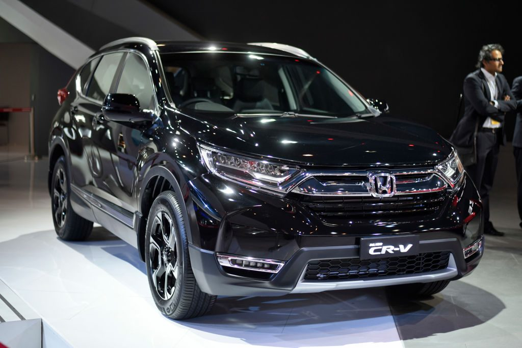 2018 Honda CR-V unveiled during the Auto Expo 2018 Motor Show