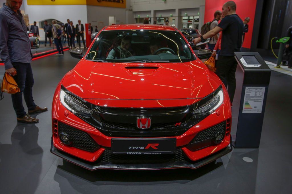 The Honda Civic Type R on display