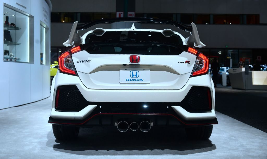 The Honda Civic on display at Automobility LA