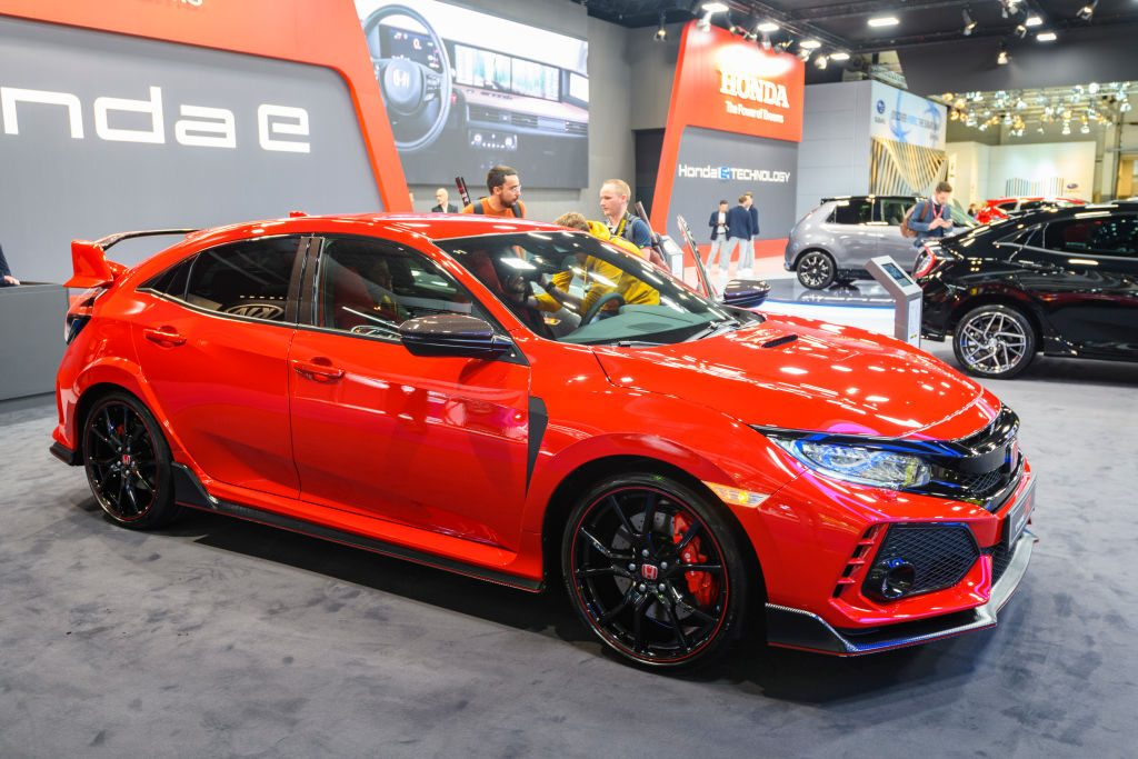 The Honda Civic Type-R at the Brussels Expo