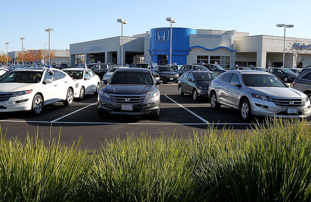 Honda vehicles for sale at a dealership