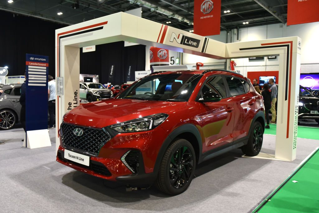 The Hyundai Tucson on display at the London Motor and Tech Show