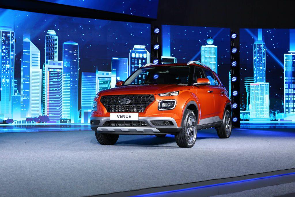 The Hyundai Venue on display at auto show