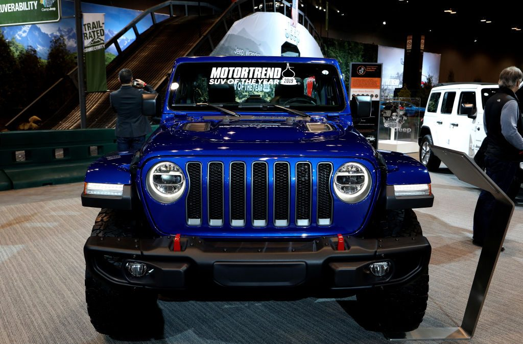 The Jeep Wrangler on display at the Annual Chicago Auto Show