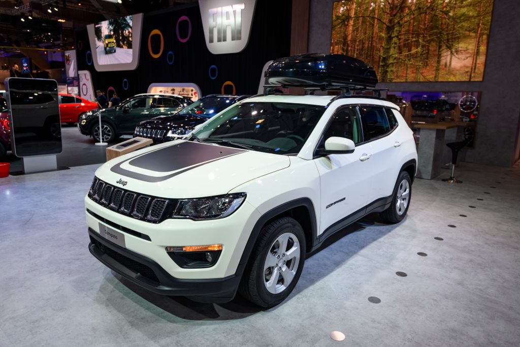 The Jeep Compass on display at the Brussels Expo