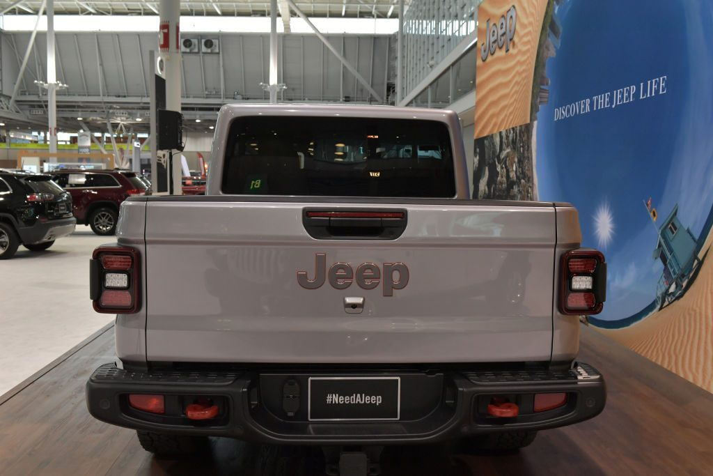 The 2020 Jeep Gladiator at the 2019 New England International Auto Show