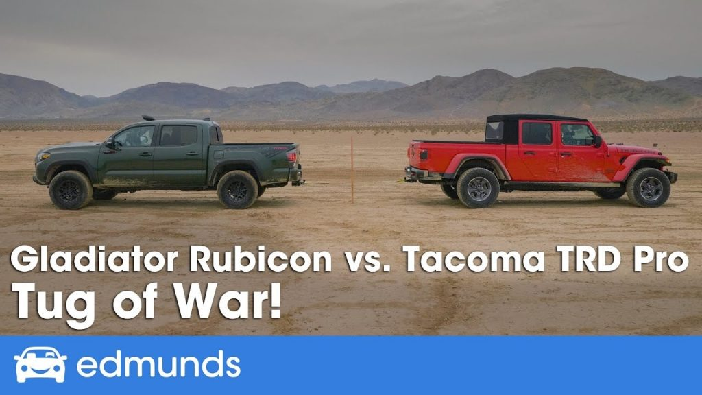 Jeep Gladiator Rubicon vs. Toyota Tacoma TRD Pro towing tug-of-war