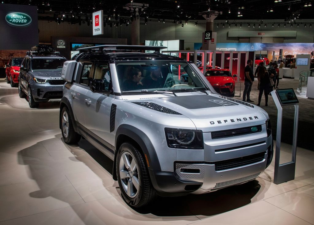 The Land Rover Defender on display at the AutoMobility LA event