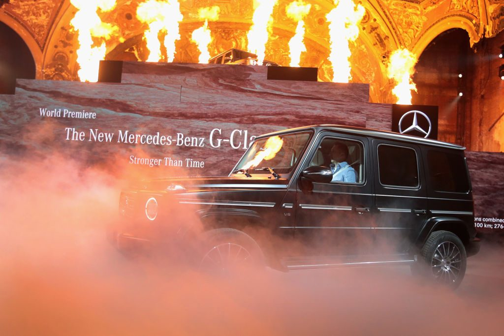 The Mercedes-Benz G-Class on display at the North American International Auto Show