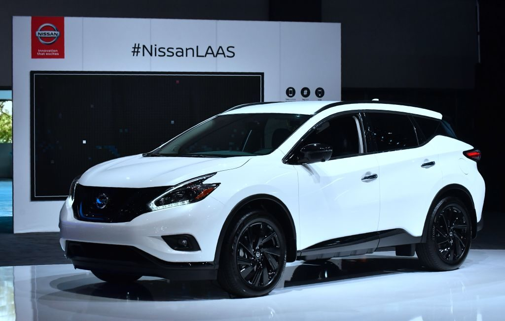 A Nissan Murano on display at an auto show