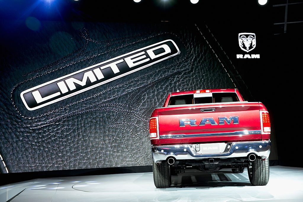 The RAM 1500 on display at the Chicago Auto Show