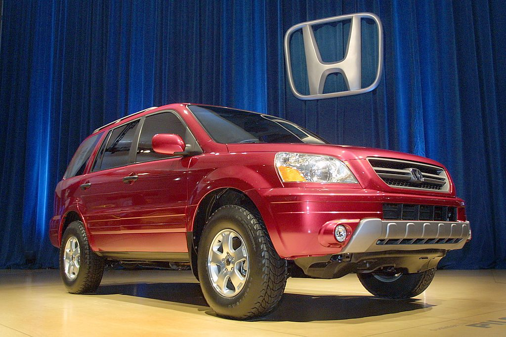 A Honda Pilot on display at an auto show