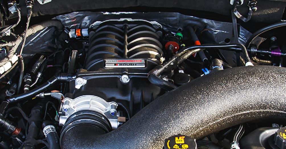 Roush Ford F-150 Tactical Edition engine