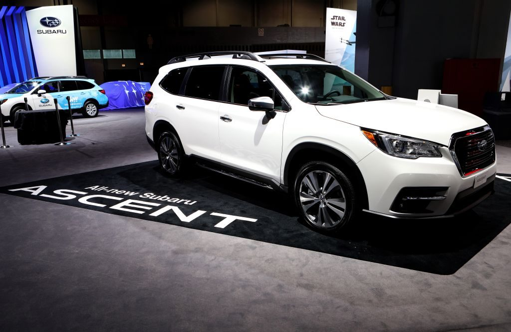 2018 Subaru Ascent is on display at the 110th Annual Chicago Auto Show at McCormick Place