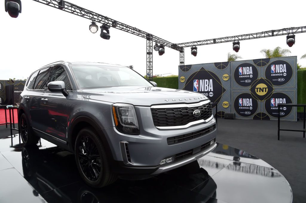 The Kia Telluride at the annual 2019 NBA Awards