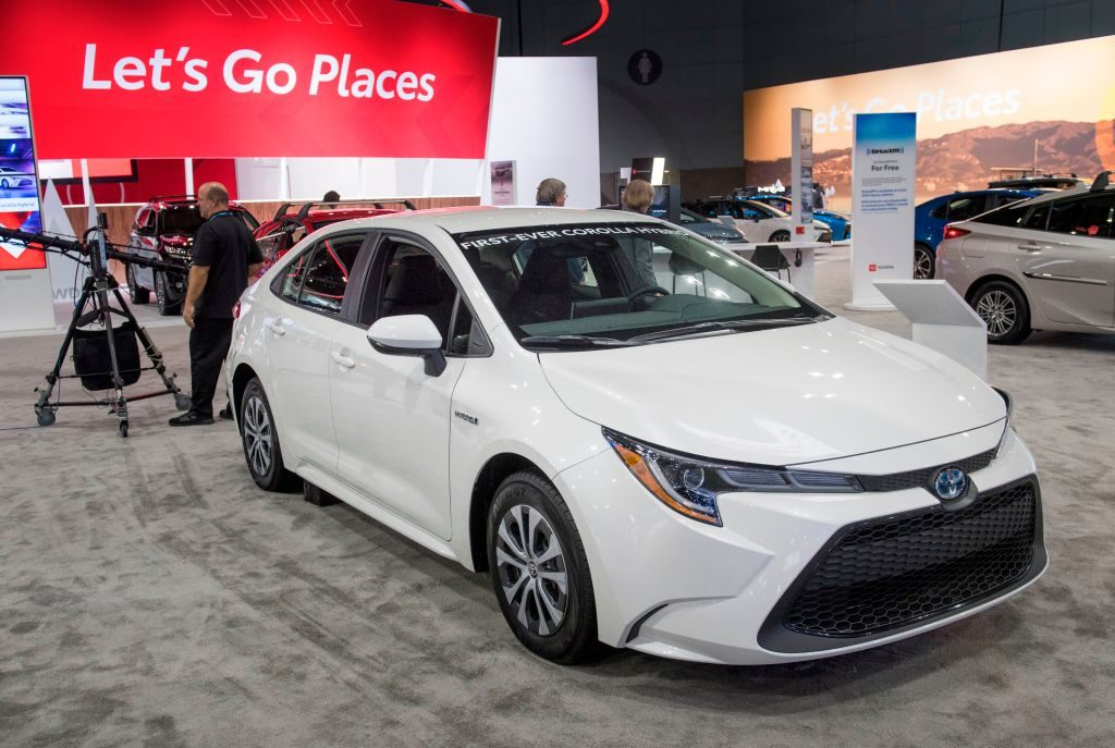 The Toyota Corolla Hybrid at the Los Angeles Auto Show