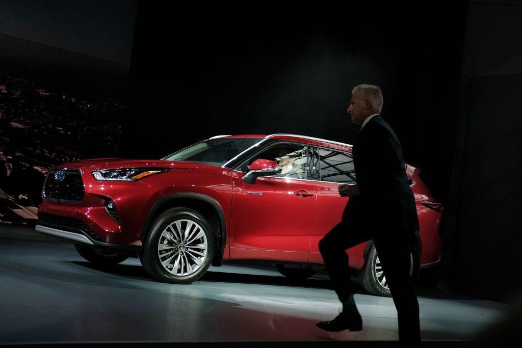 2020 Toyota Highlander on display