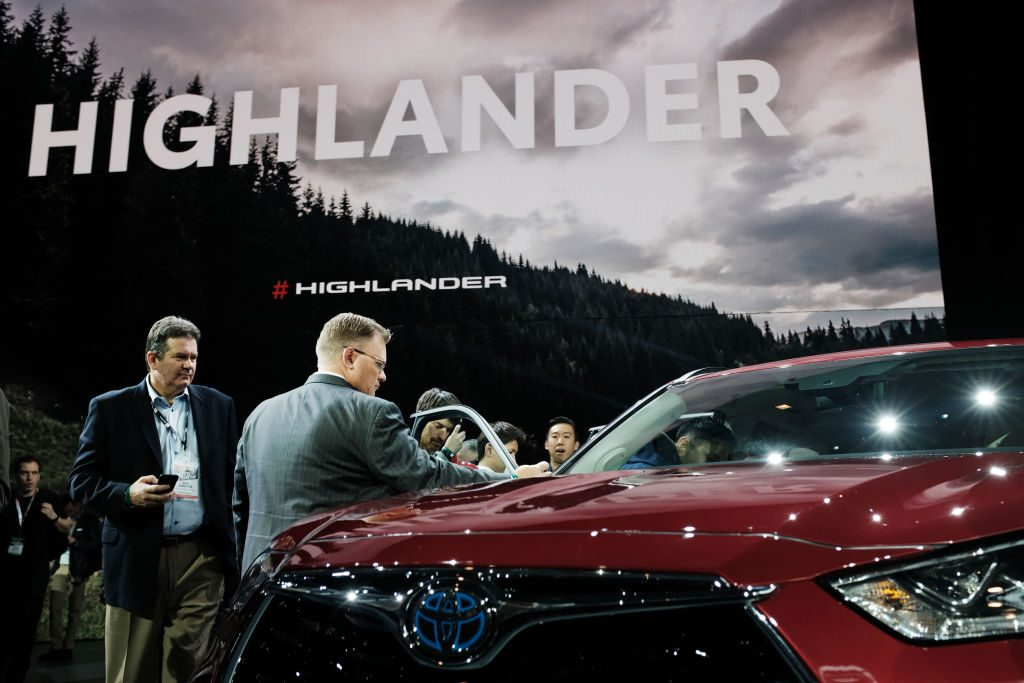 The 2020 Toyota Highlander at the New York International Auto Show